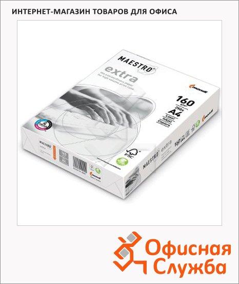 Бумага для принтера Maestro Extra А4, белизна 169%CIE, 250 листов, 160г/м2