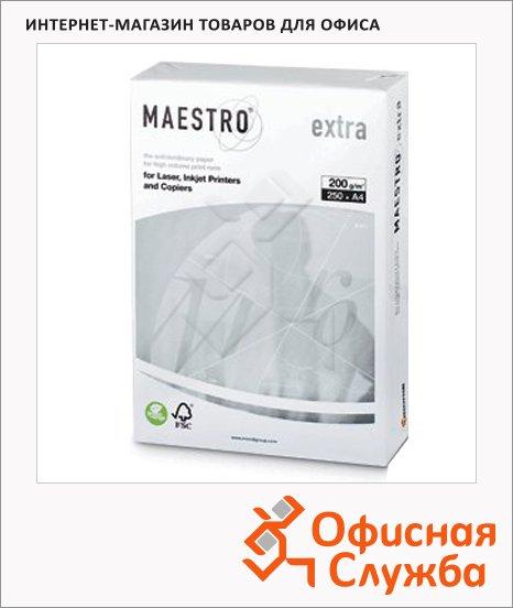 Бумага для принтера Maestro Extra А4, белизна 169%CIE, 250 листов, 200г/м2