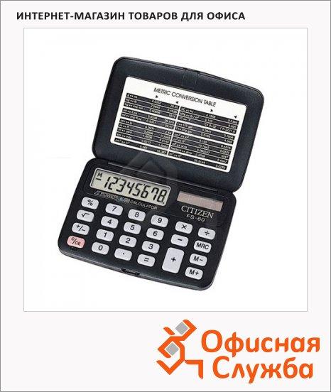 фото: Калькулятор карманный FS-60BKII черный 8 разрядов