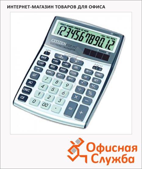 фото: Калькулятор настольный Citizen ССC-112WB серый 12 разрядов