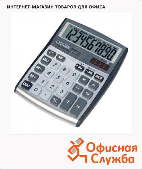 Калькулятор настольный Citizen CDC-100WB серый, 10 разрядов