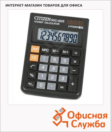 фото: Калькулятор настольный SDC-022S черный 10 разрядов