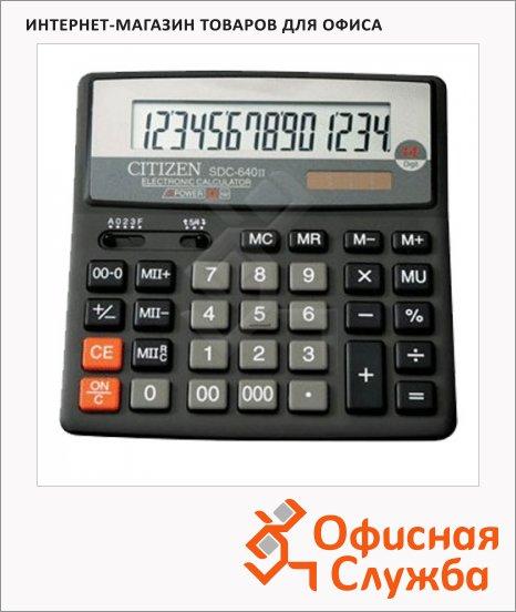 фото: Калькулятор настольный SDC-640II черный 14 разрядов