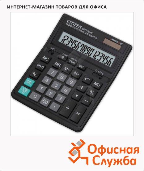 фото: Калькулятор настольный SDC-664S черный 16 разрядов