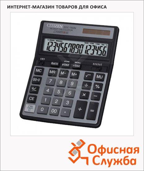 фото: Калькулятор настольный SDC-760N серый 16 разрядов