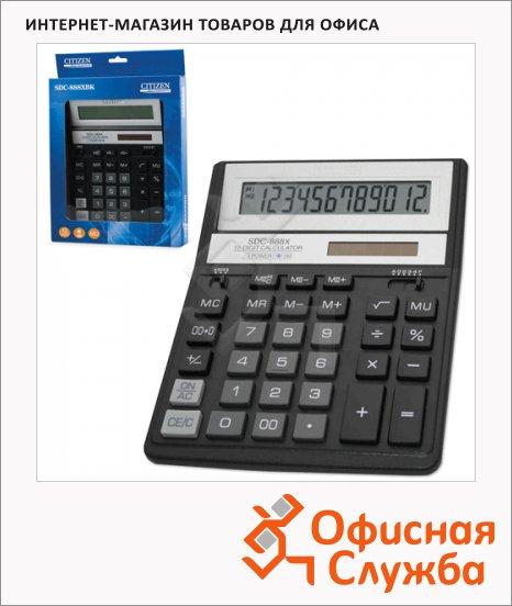 Калькулятор настольный Citizen SDC-888ХRD черный, 12 разрядов