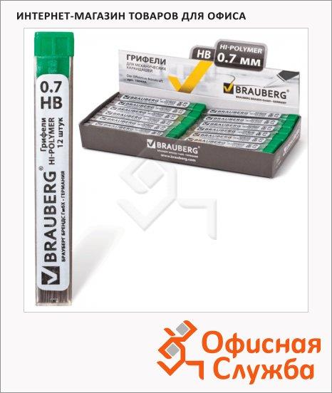 фото: Грифели для механических карандашей Brauberg Hi-Polymer 180446 HB 12шт, 0.7мм