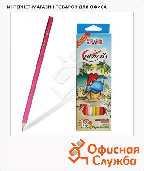 Набор цветных карандашей Koh-I-Noor 18 цветов, 3553/18