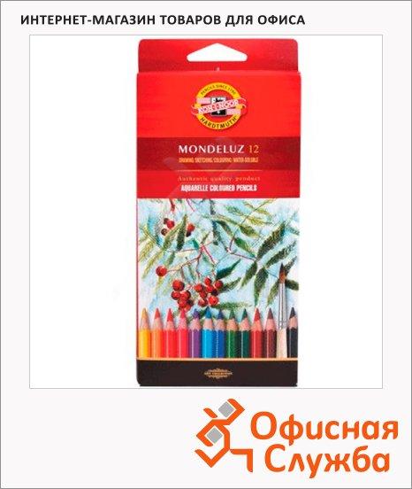 Набор акварельных карандашей Koh-I-Noor Mondeluz 12 цветов, 3716/12