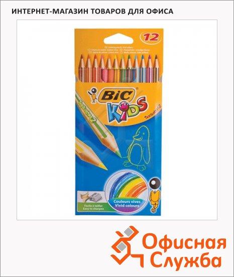 фото: Набор цветных карандашей Bic Tropicolors 2 12 цветов 832566
