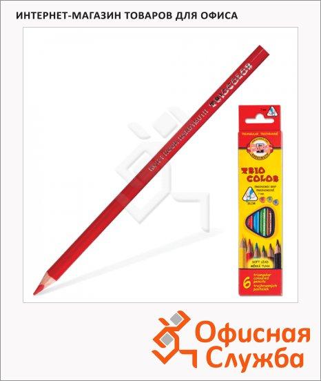 фото: Набор цветных карандашей Koh-I-Noor 6 цветов трехгранные, 3131/6