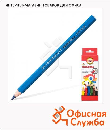 Набор цветных карандашей Koh-I-Noor Mona Lisa Jumbo 6 цветов, 3371/6