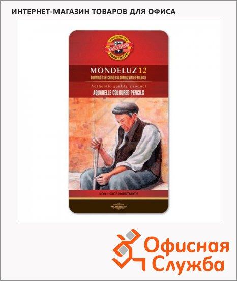 Набор акварельных карандашей Koh-I-Noor Mondeluz 12 цветов, 3722/12