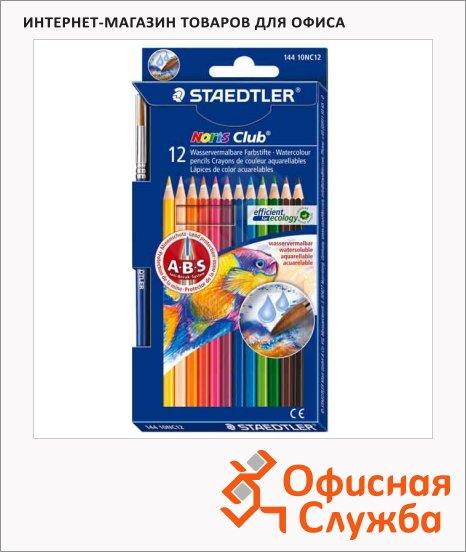 Набор акварельных карандашей Staedtler Noris Club 12 цветов, 14410NC12