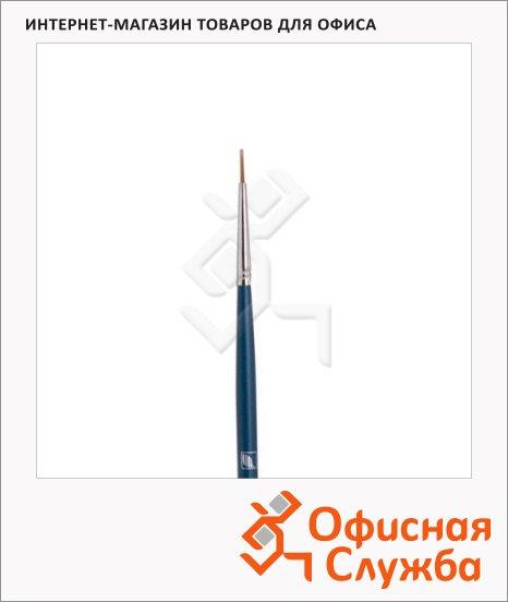 фото: Кисть для рисования из синтетики Байкал №0 круглая, длинная ручка