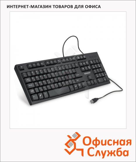 Клавиатура проводная USB Sonnen KB-330, черная
