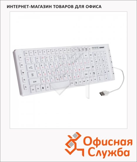 фото: Клавиатура проводная USB Sonnen KB-M550 белая