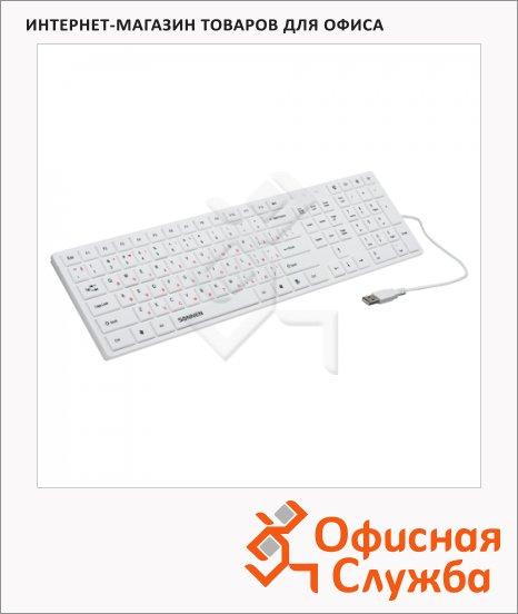 Клавиатура проводная USB Sonnen KB-M560, белая