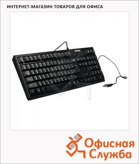 Клавиатура проводная USB Sonnen KB-300B, черная