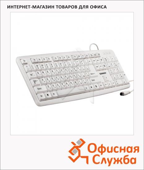 Клавиатура проводная PS/2 Sonnen KB-100W, белая