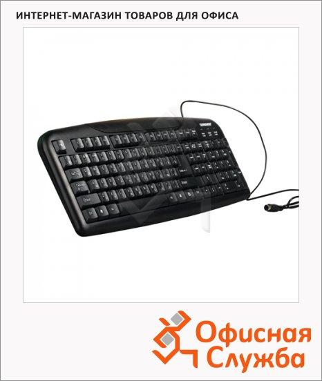 фото: Клавиатура проводная PS/2 Sonnen KB-110 черная