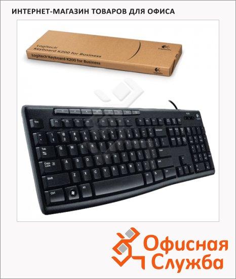фото: Клавиатура проводная USB K200 черная