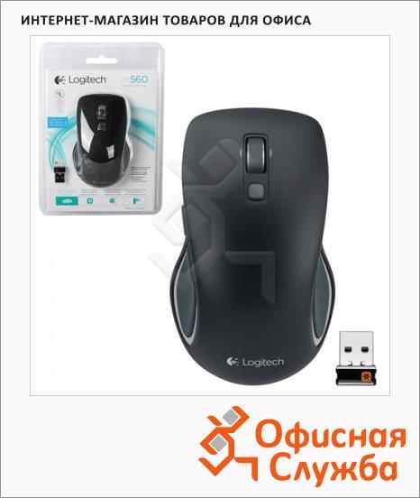 фото: Мышь беспроводная оптическая USB Logitech M560 1000dpi, черная