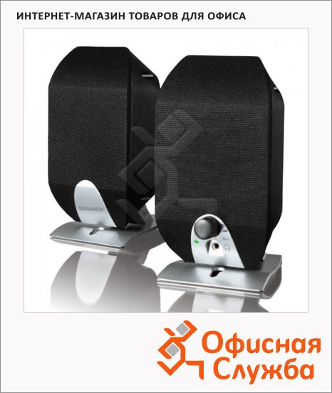фото: Колонки компьютерные Sonnen SP-C3 2х2Вт, черные, 2.0