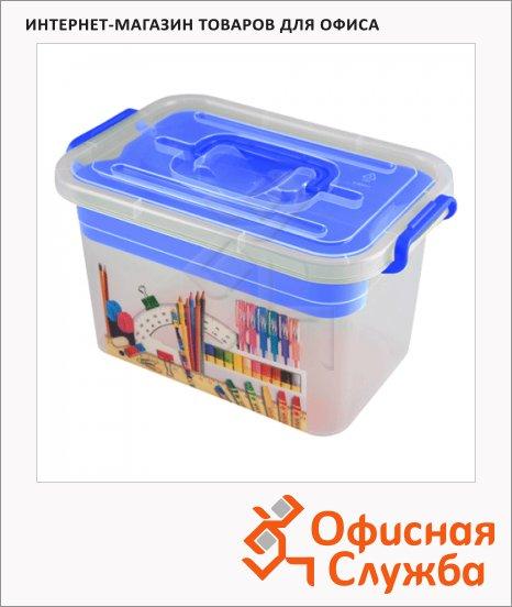 фото: Ящик для хранения Полимербыт Школа 6.5л, синий