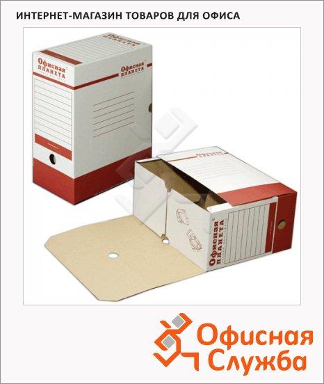 Архивный бокс Офисная Планета бело-красный, А4, 150мм, 122746