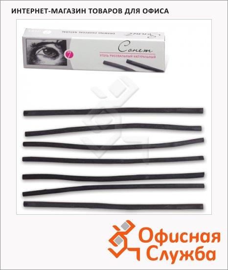 фото: Уголь для рисования Невская Палитра Сонет 120мм толщина 3-4мм, 7шт