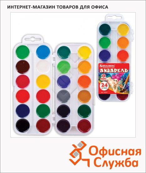 Акварель Brauberg Медовые 24 цвета, без кисти