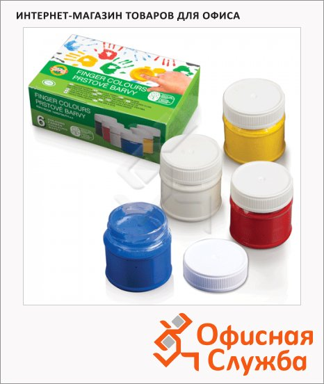 Краска пальчиковая Koh-I-Noor Мастер-класс 6 цветов по 18мл