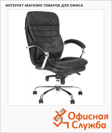 фото: Кресло руководителя Chairman 795 иск. кожа крестовина хром, черная
