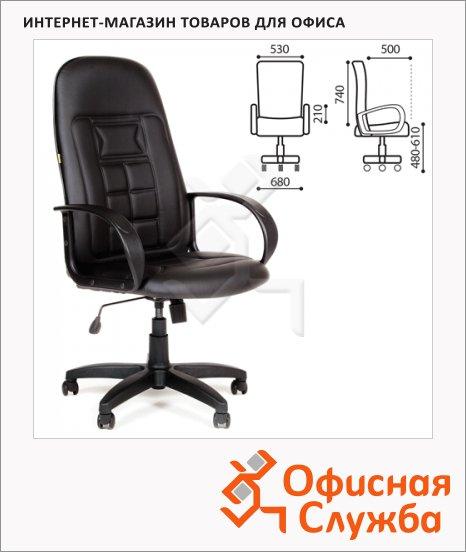 фото: Кресло руководителя Chairman 727 ткань крестовина пластик, черная