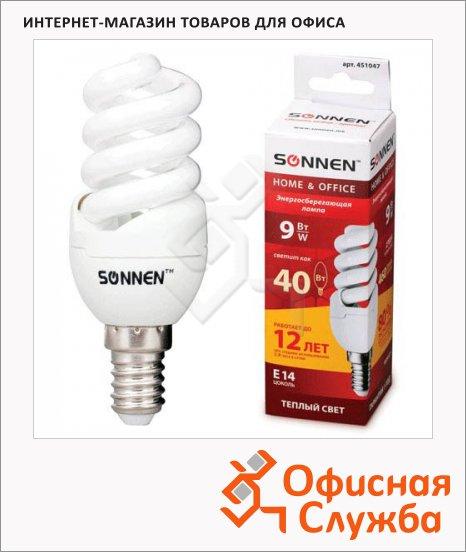 фото: Лампа энергосберегающая Sonnen Т2 9(40)Вт E14, теплый свет, 12000ч