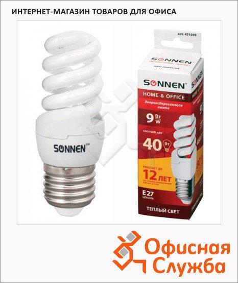 фото: Лампа энергосберегающая Т2 9(40)Вт E27, теплый свет, 12000ч