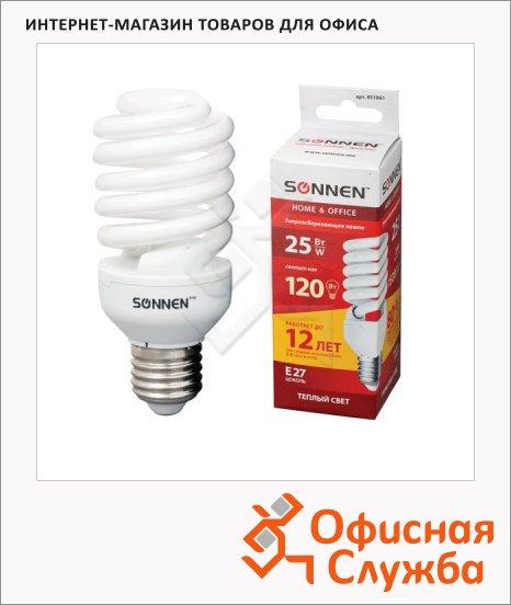 фото: Лампа энергосберегающая Т2 25(120)Вт E27, теплый свет, 12000ч