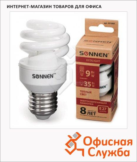 Лампа энергосберегающая Sonnen ECO Т2 9(35)Вт, E27, теплый свет, 8000ч