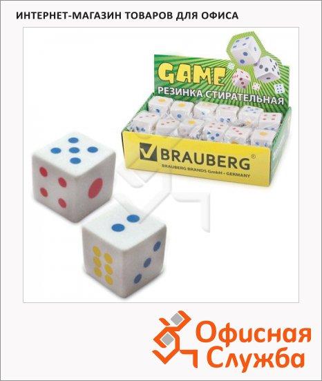 фото: Ластик Brauberg Game 24х24х24мм белый