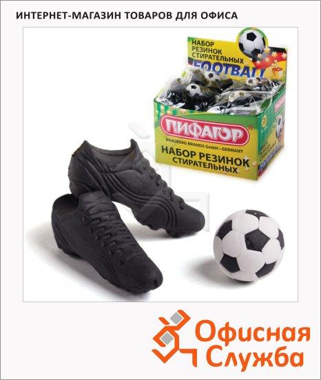 Набор ластиков Пифагор Футбол, 3шт