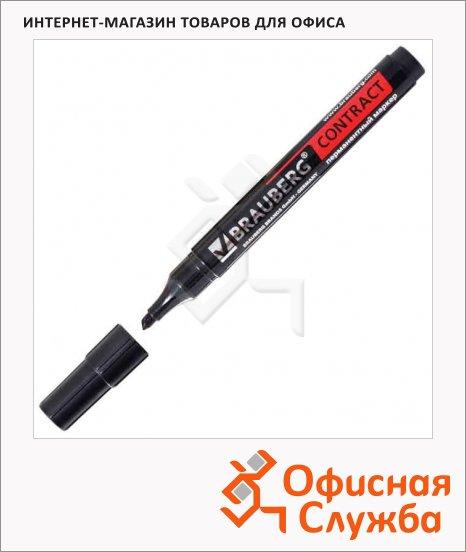 фото: Маркер перманентный Brauberg Contract черный 1-5мм, скошенный наконечник