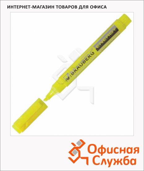 фото: Текстовыделитель Brauberg Energy желтый 1-5мм, скошенный наконечник, 150482