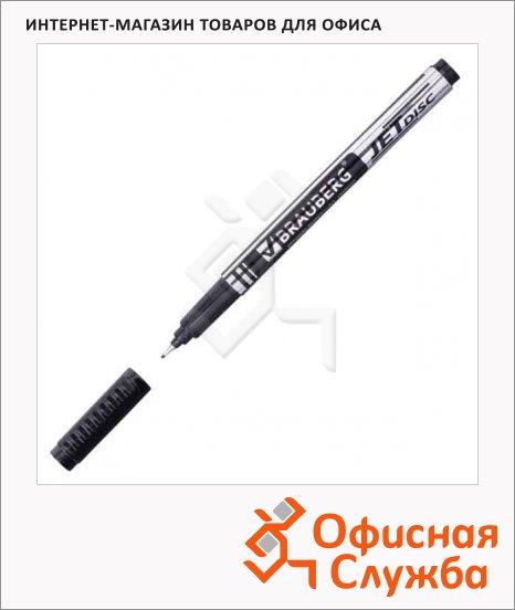 Маркер для CD перманентный Brauberg Jet Disc черный, 0.5мм, супертонкий наконечник