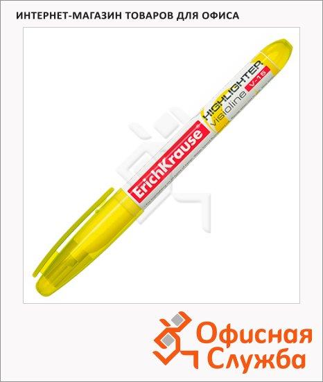 фото: Текстовыделитель Erich Krause Visioline V-15 желтый 0.56-4мм, скошенный наконечник, 30965