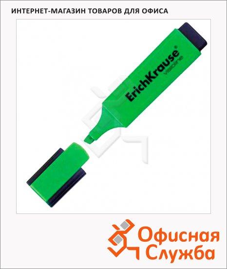 фото: Текстовыделитель Erich Krause Visioline V-20 зеленый 0.6-5.2мм, скошенный наконечник, 30941
