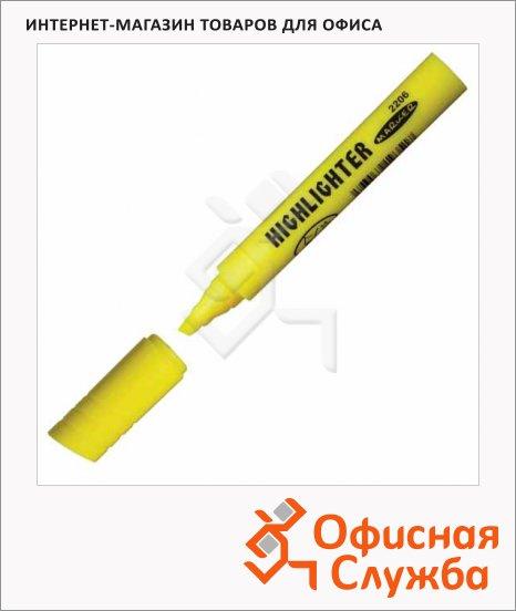 Текстовыделитель Koh-I-Noor желтый, 1-5мм, скошенный наконечник