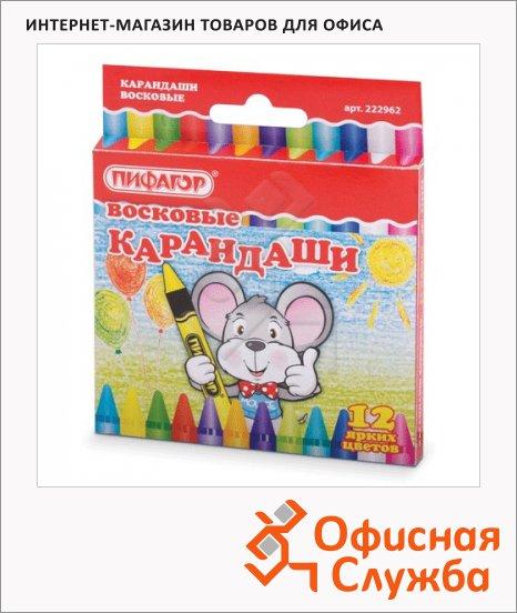 Набор восковых карандашей Пифагор 12 цветов, 222962