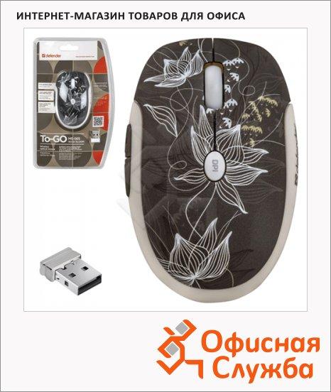фото: Мышь беспроводная оптическая USB To-Go MS-565 1600dpi, принт