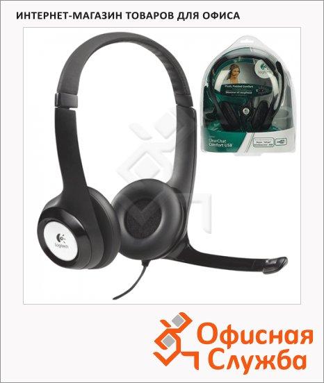 Гарнитура проводная Logitech H390 черная, 20 Гц-20 кГц